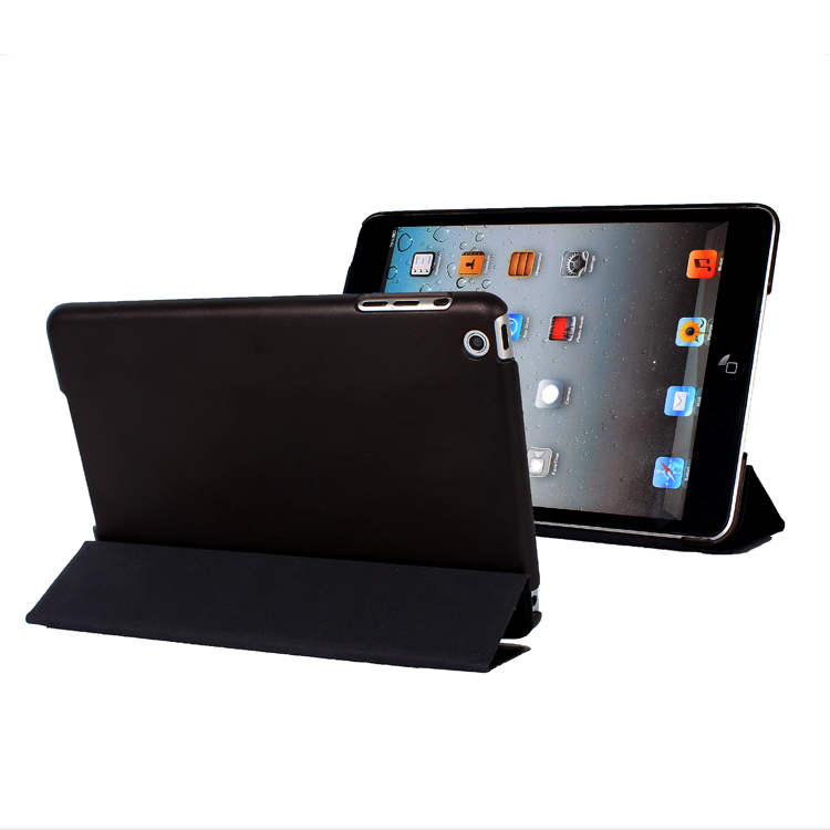 iPad mini Super Slim Leather Stand case(pink, red, blue, black and grey)
