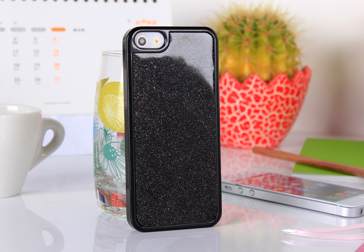 iphone5  glitter case - black