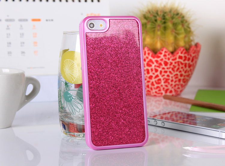 iphone5  glitter case - pink