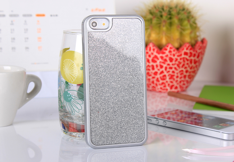 iphone5  glitter case - silver