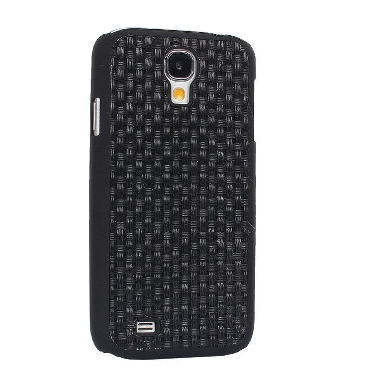 Woven Pattern Protective Plastic Case for samsung galaxy s4 i9500