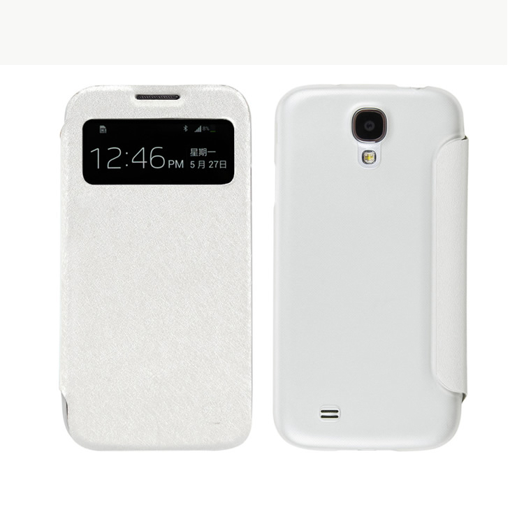 New arrival Lichee Pattern back cover case for samsung galaxy s4 with wake up/sleep function