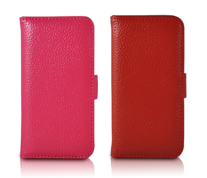 Wallet Style Flip Stand Leather Case for iPhone 5C with Card Slots