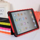 PC+TPU 2 in 1 form ipad mini rugged case kick stand cover color matching DIY