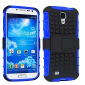 2 piece hybrid PC TPU rugged kick stand case for Samsung S4 i9500