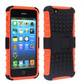 2 piece hybrid PC TPU rugged kick stand case for iPhone 5