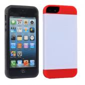 2 piece hybrid PC TPU back cover card slot case for iPhone5