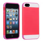 2 in 1 double color  pc silicon card slot cover case for iphone 5