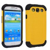 2 Piece Hybrid Rugged Hard PC Soft Silicone Back Case Cover For Samsung S3