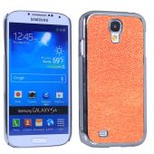 for samsung galaxy s4 wrape leather case with chrome pc