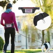 Ultra slim lycra waist bag with LED